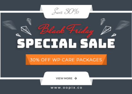 Black Friday Special Sale - Get 30% off WP Care Packages!
